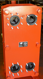 PlateMax Plate Exchangers heat exchanger model picture orange